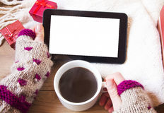Tablet and Coffee Stock Images