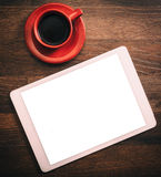 Tablet and coffee Royalty Free Stock Photography