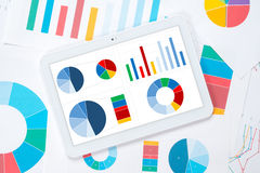 Tablet colorful dashboard Stock Photos