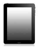 Tablet computer. A front view of a modern touch screen tablet computer designed for a mobile lifestyle Stock Photos