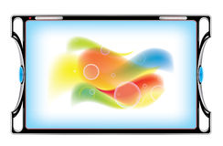Tablet computer with abstract image - eps 10 Royalty Free Stock Images