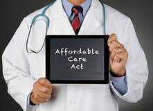 Tablet Computer Affordable Care医生行动 库存图片