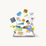 Tablet Computer Application Icons Royalty Free Stock Photos