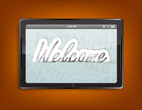 Tablet computer background Stock Photo