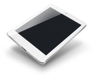 Tablet computer with black screen. Royalty Free Stock Images