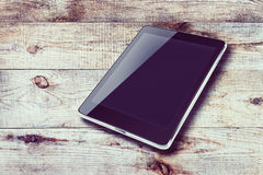 Tablet computer with black screen. Royalty Free Stock Photography