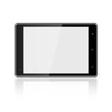 Tablet computer with blank screen on white Stock Images