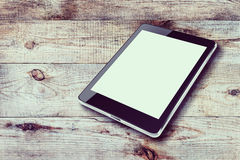 Tablet computer with blank screen. Stock Photos
