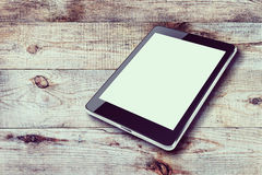 Tablet computer with blank screen. Stock Image
