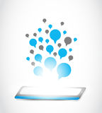 Tablet computer communication technology vector illustration