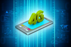Tablet computer connect with 4G Royalty Free Stock Photos