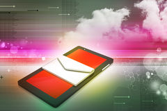 Tablet computer with e mail Stock Image