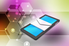 Tablet computer with e mail Stock Photography