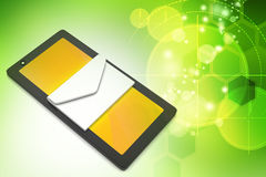 Tablet computer with e mail Royalty Free Stock Photos