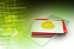 Tablet computer with e-mail Royalty Free Stock Photos