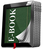 Tablet-Computer - EBook Lizenzfreies Stockbild
