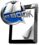 Tablet Computer with eBook Icon Royalty Free Stock Images