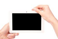 Tablet-Computer in einer Hand Lizenzfreies Stockbild