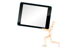 Tablet computer  with empty screen isolated on white background Stock Image