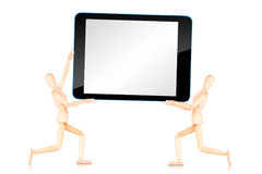 Tablet computer  with empty screen isolated on white background Royalty Free Stock Photos