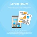 Tablet Computer Finance Chart Infographics Web Stock Photo