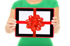 Tablet computer gift royalty free stock photo
