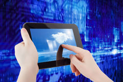 Tablet computer in hands Royalty Free Stock Photos