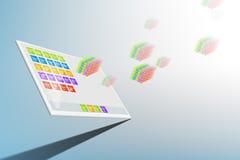 Tablet computer illustration Stock Images