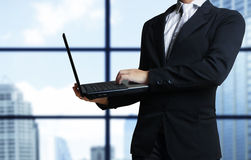 Tablet computer isolated in a hand Royalty Free Stock Photography