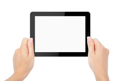 Tablet computer isolated in a hand Royalty Free Stock Image