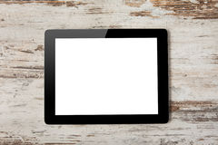 Tablet computer with isolated screen Royalty Free Stock Photos