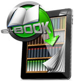 Tablet Computer - Library E-Book Royalty Free Stock Image
