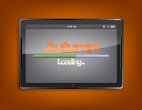 Tablet computer with loading bar Royalty Free Stock Photo