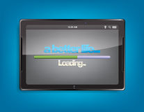 Tablet computer with loading bar Royalty Free Stock Photos