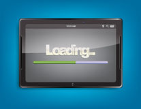 Tablet computer with loading bar Stock Image