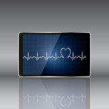 Tablet computer with  medical concept . Vector Royalty Free Stock Images