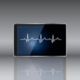 Tablet computer with  medical concept . Vector Royalty Free Stock Photography
