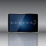 Tablet computer with  medical concept . Vector Royalty Free Stock Photos