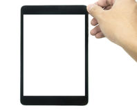 Tablet-Computer mit dem leeren Bildschirm lokalisiert auf Weiß 1 Lizenzfreie Stockbilder