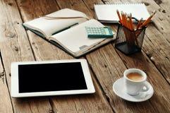 Tablet-Computer mit einem leeren Bildschirm Stockbild