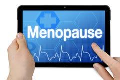 Tablet-Computer mit Menopause stock abbildung