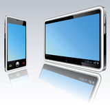 Tablet computer and mobile phone Stock Photos