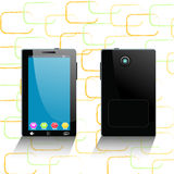 Tablet computer and mobile phone. Template Stock Image