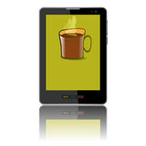 Tablet computer & mobile phone. Royalty Free Stock Photo