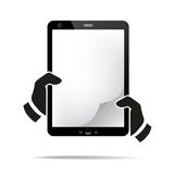 Hands holding a tablet with isolated screen Royalty Free Stock Photography