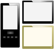 Tablet computer and mobile phone Stock Images