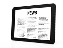 Tablet computer with news Stock Image
