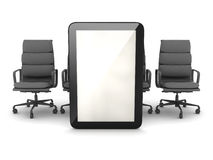 Tablet computer and office chairs Stock Images