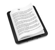 Tablet computer with pages. On white background. 3d rendering illustration Stock Images