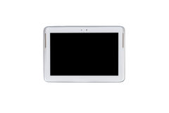 Tablet computer, pen and notebook isolated on over white backgro Stock Photography